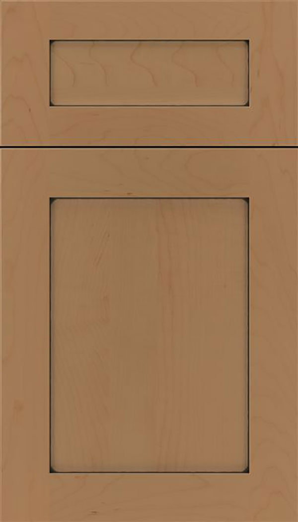 Salem 5pc Maple shaker cabinet door in Tuscan with Black glaze