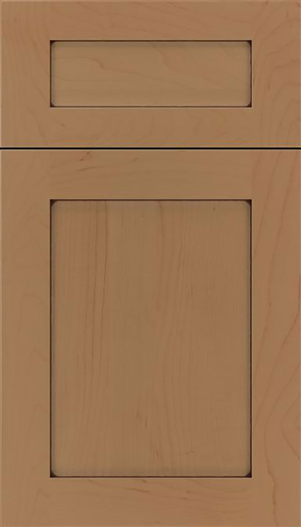Salem 5pc Maple shaker cabinet door in Tuscan with Mocha glaze