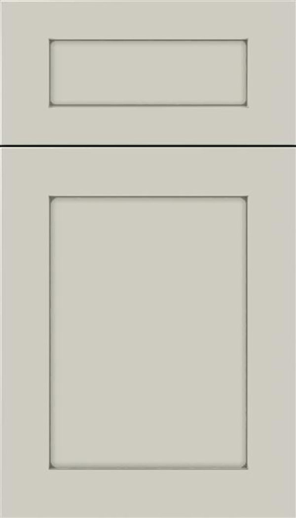 Salem 5pc MDF shaker cabinet door in Cirrus with Pewter glaze