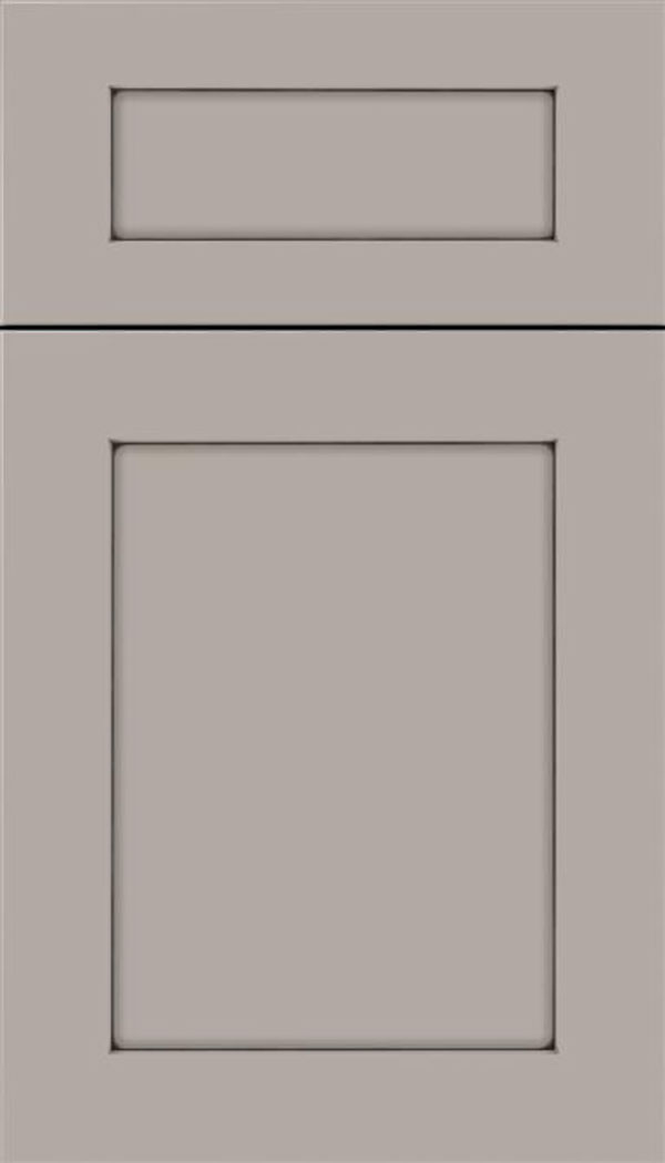 Salem 5pc MDF shaker cabinet door in Nimbus with Smoke glaze