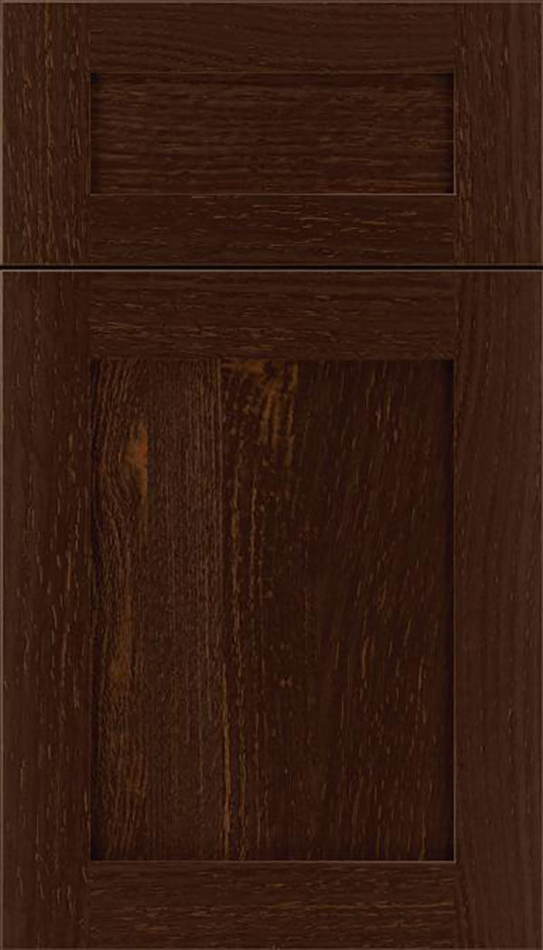 Salem 5pc Rift Oak shaker cabinet door in Cappuccino