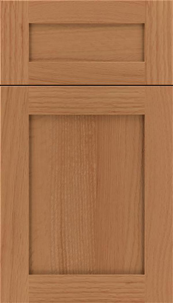 Salem 5pc Rift Oak shaker cabinet door in Ginger
