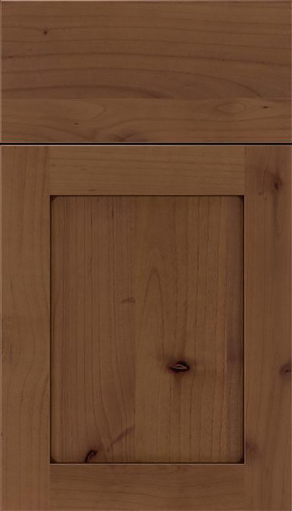 Salem Alder shaker cabinet door in Sienna with Mocha glaze
