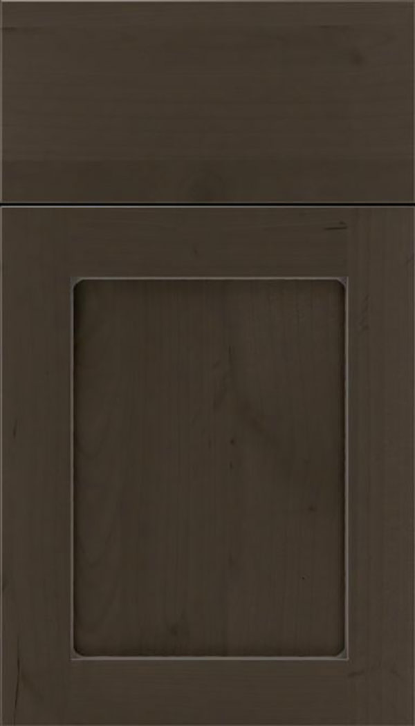 Salem Alder shaker cabinet door in Thunder with Pewter glaze