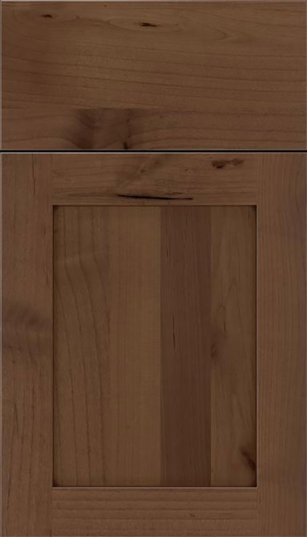 Salem Alder shaker cabinet door in Toffee with Mocha glaze