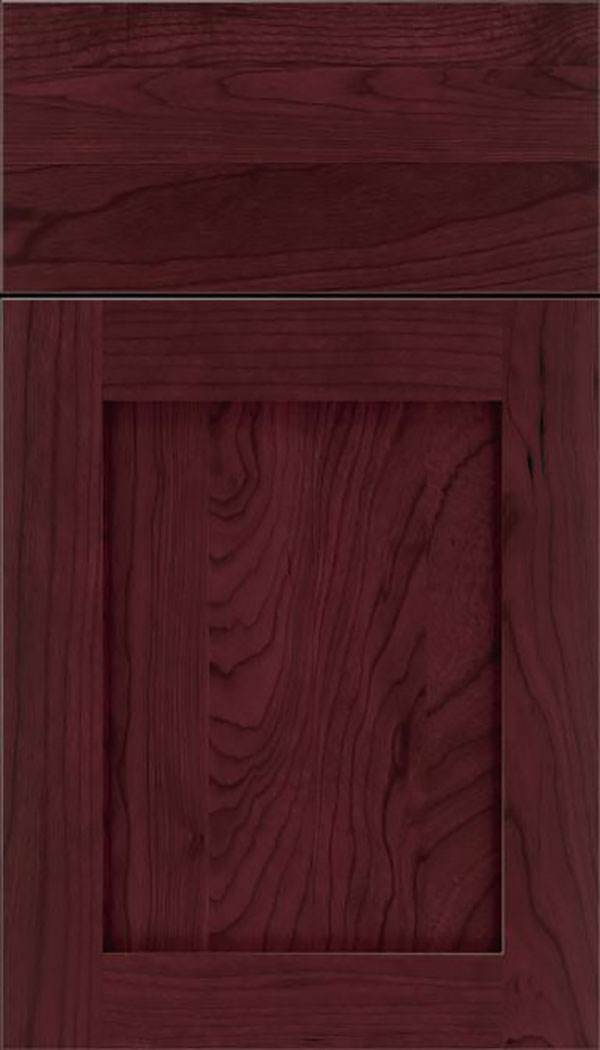 Salem Cherry shaker cabinet door in Bordeaux