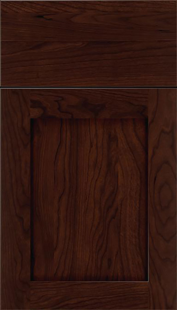 Salem Cherry shaker cabinet door in Cappuccino