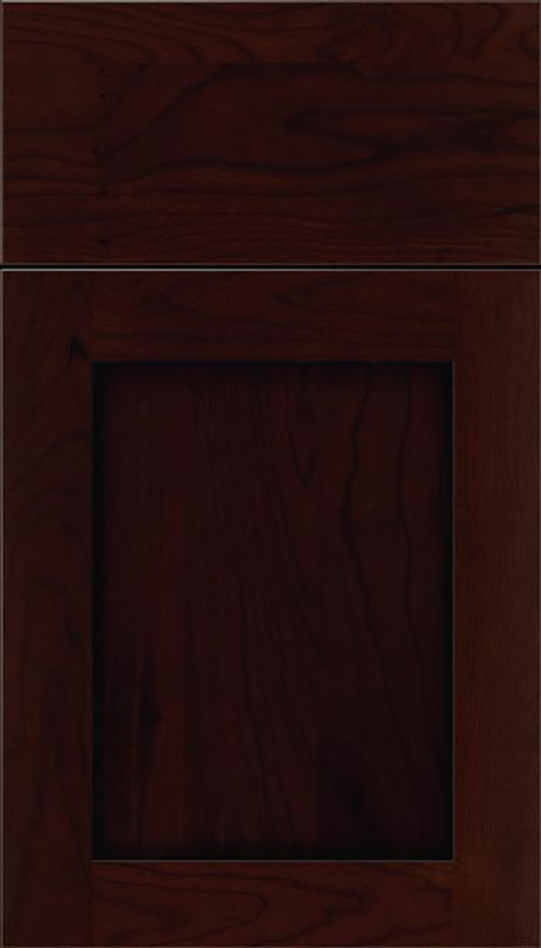 Salem Cherry shaker cabinet door in Cappuccino with Black glaze
