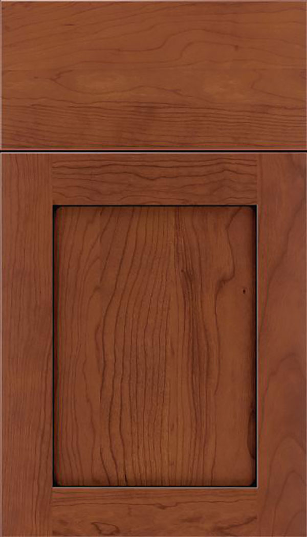 Salem Cherry shaker cabinet door in Russet with Black glaze