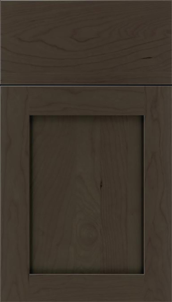 Salem Cherry shaker cabinet door in Thunder