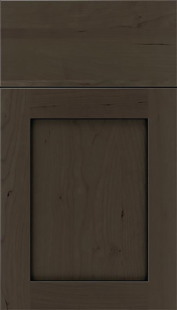 Salem Cherry shaker cabinet door in Thunder with Black glaze