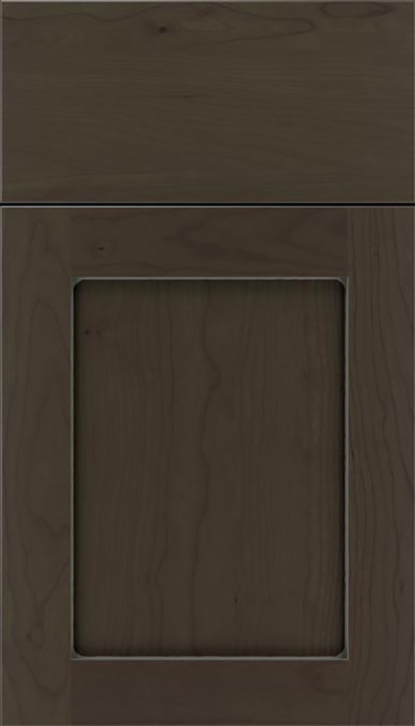 Salem Cherry shaker cabinet door in Thunder with Pewter glaze