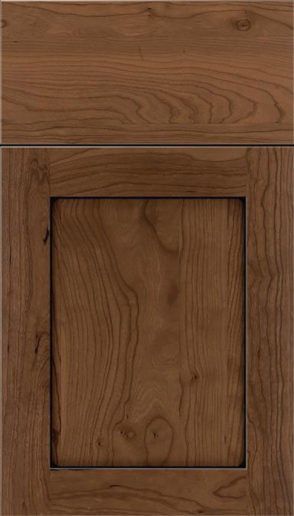 Salem Cherry shaker cabinet door in Toffee with Black glaze