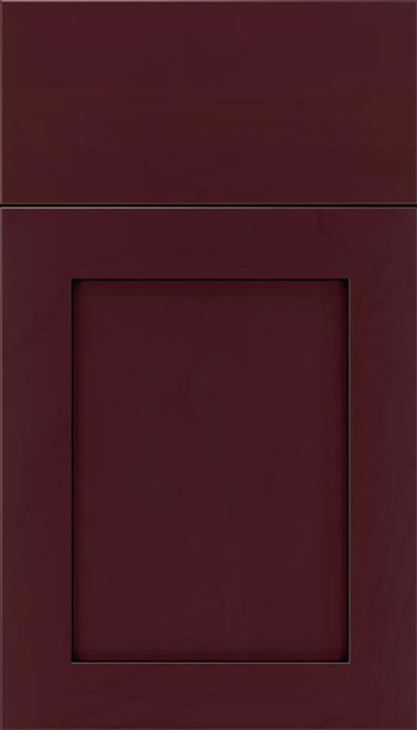 Salem Maple shaker cabinet door in Bordeaux with Black glaze