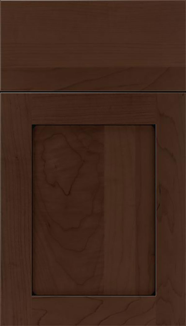 Salem Maple shaker cabinet door in Cappuccino with Black glaze