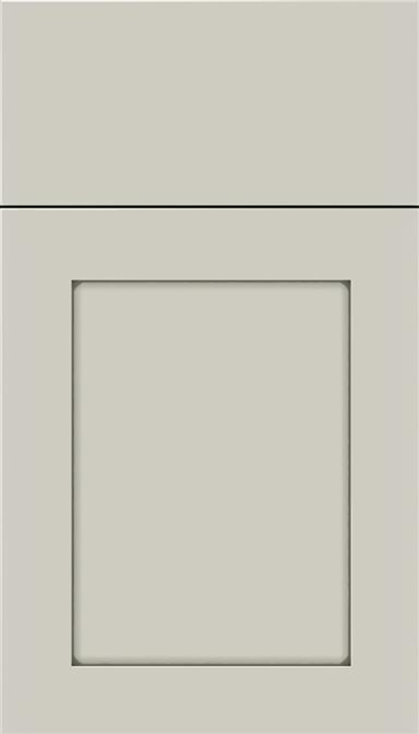 Salem Maple shaker cabinet door in Cirrus with Pewter glaze