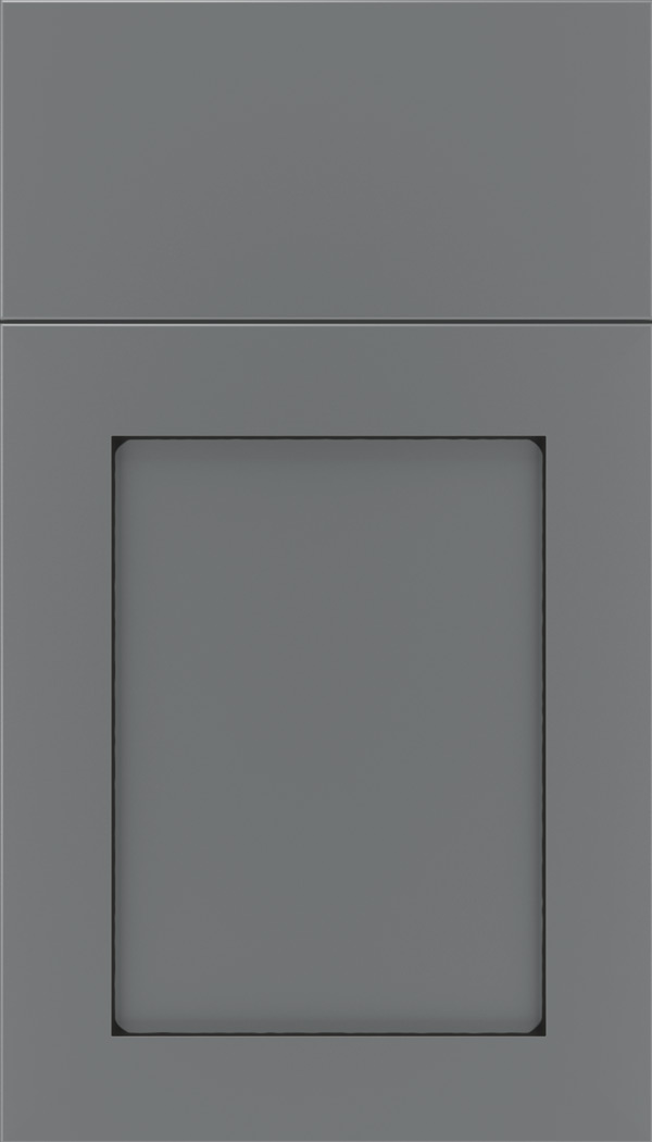 Salem Maple shaker cabinet door in Cloudburst with Black glaze