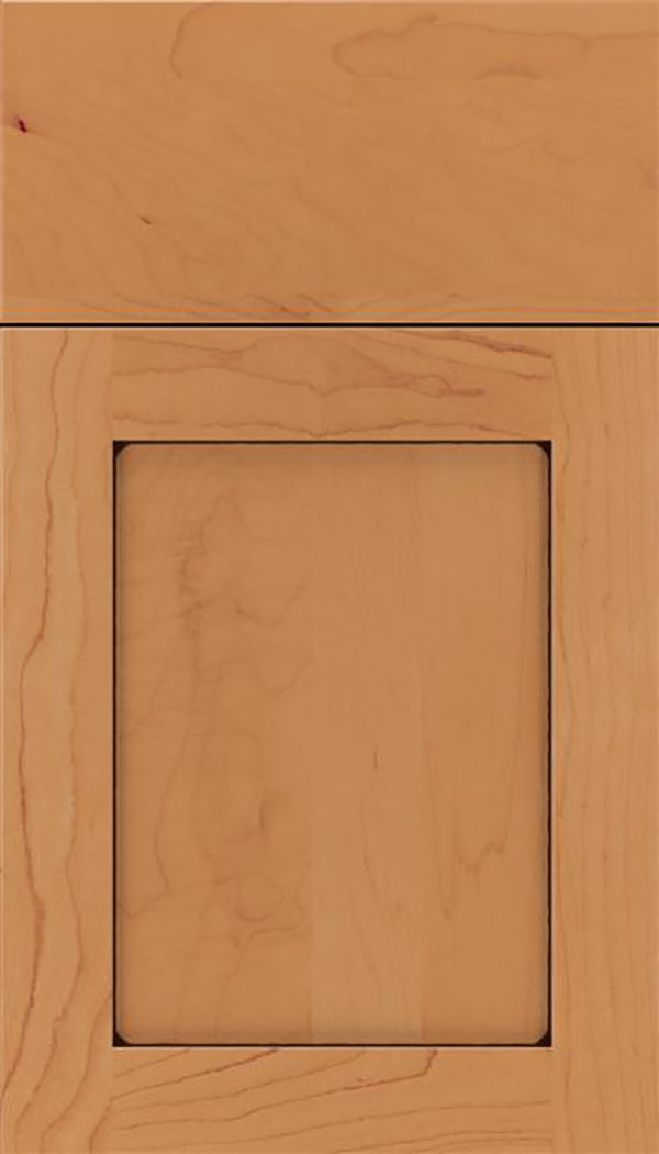 Salem Maple shaker cabinet door in Ginger with Black glaze