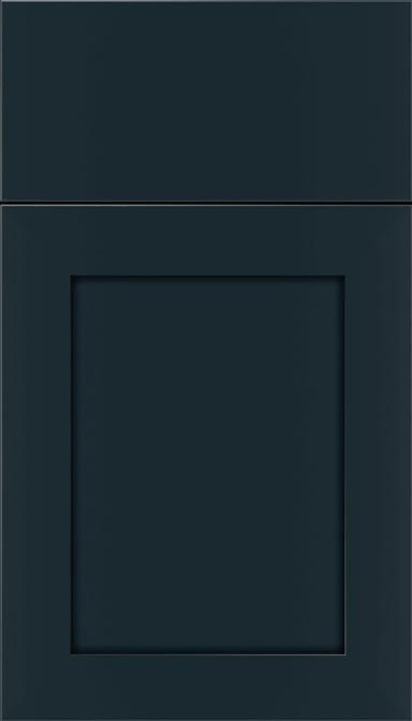 Salem Maple shaker cabinet door in Gunmetal Blue