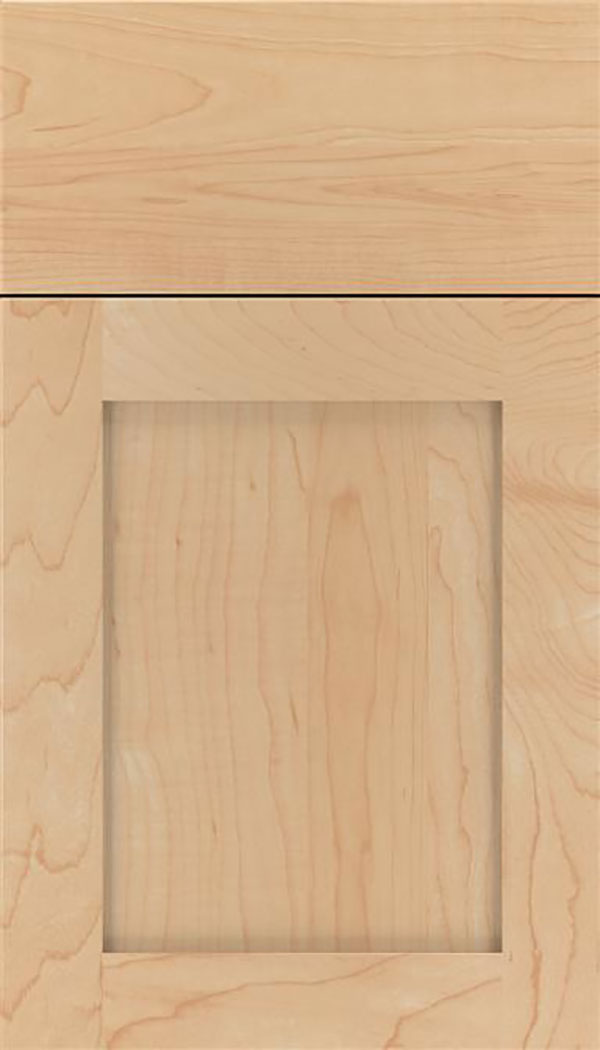 Salem Maple shaker cabinet door in Natural