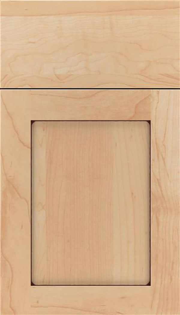 Salem Maple shaker cabinet door in Natural with Mocha glaze
