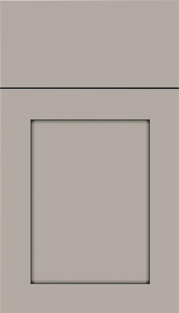 Salem Maple shaker cabinet door in Nimbus with Pewter glaze