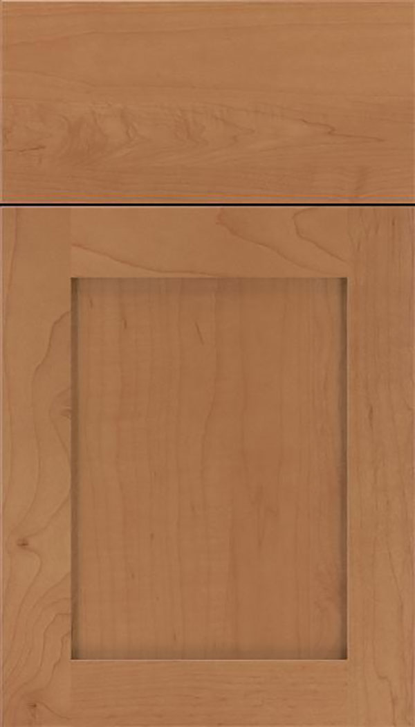 Salem Maple shaker cabinet door in Nutmeg