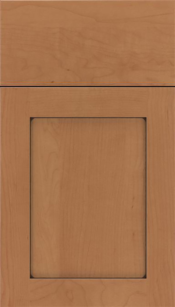 Salem Maple shaker cabinet door in Nutmeg with Mocha glaze