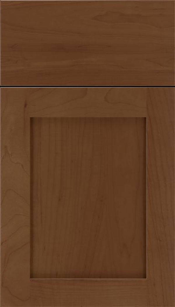 Salem Maple shaker cabinet door in Sienna