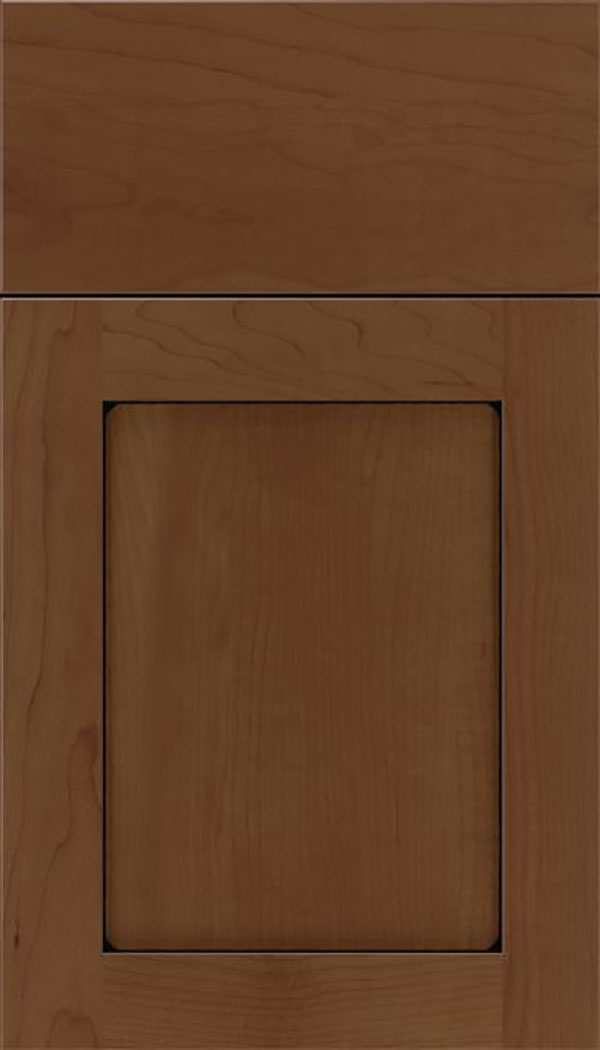 Salem Maple shaker cabinet door in Sienna with Black glaze