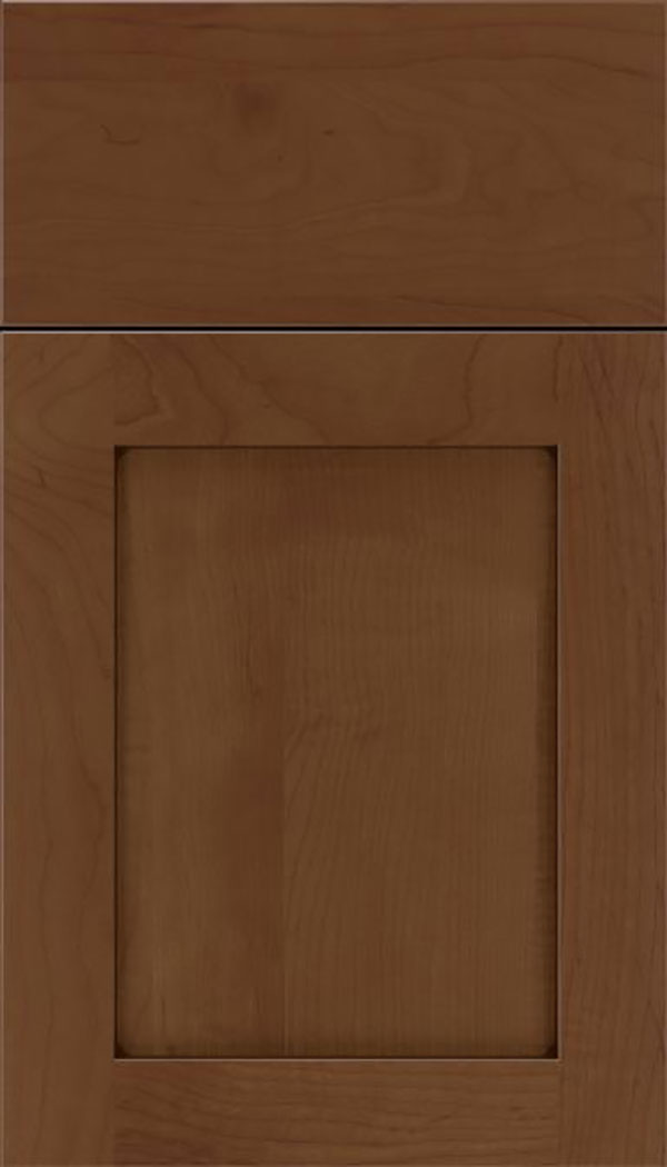 Salem Maple shaker cabinet door in Sienna with Mocha glaze
