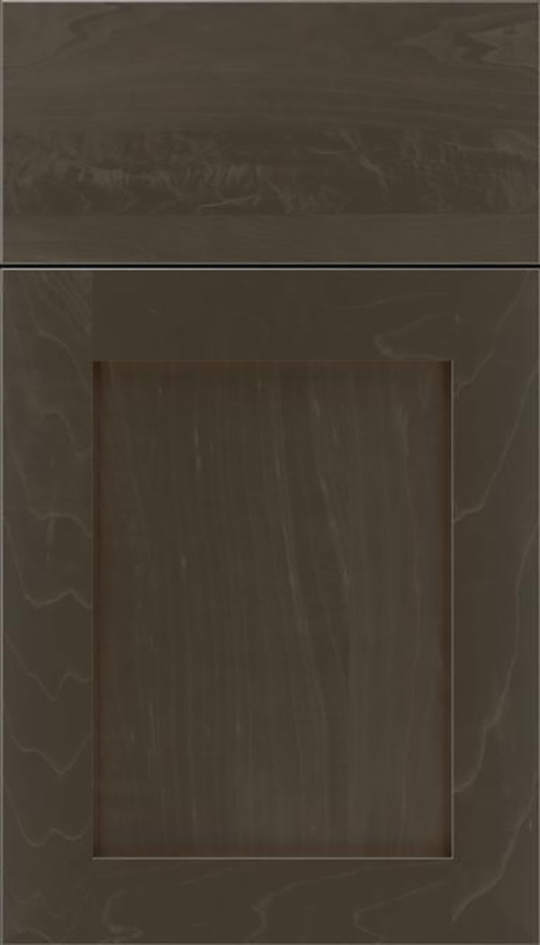 Salem Maple shaker cabinet door in Thunder