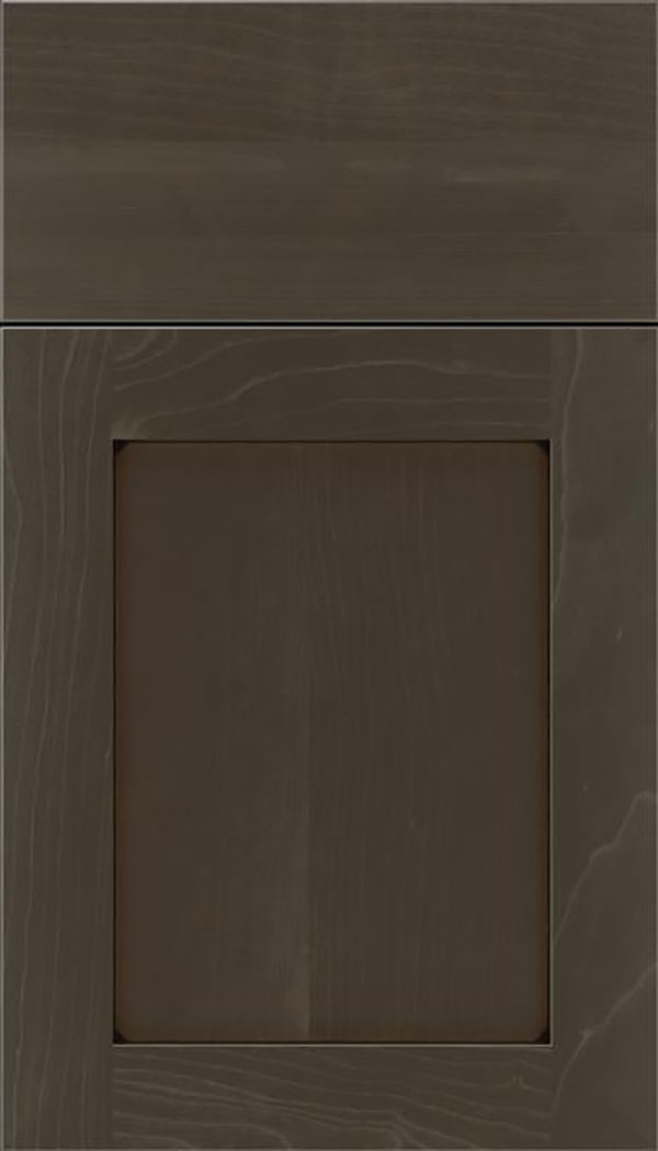 Salem Maple shaker cabinet door in Thunder with Black glaze
