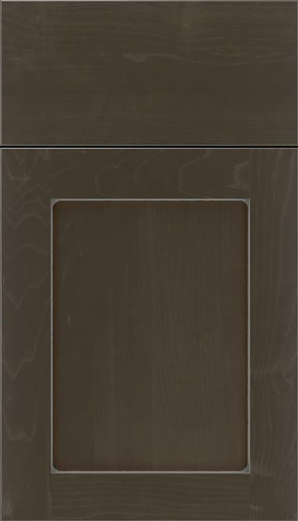 Salem Maple shaker cabinet door in Thunder with Pewter glaze