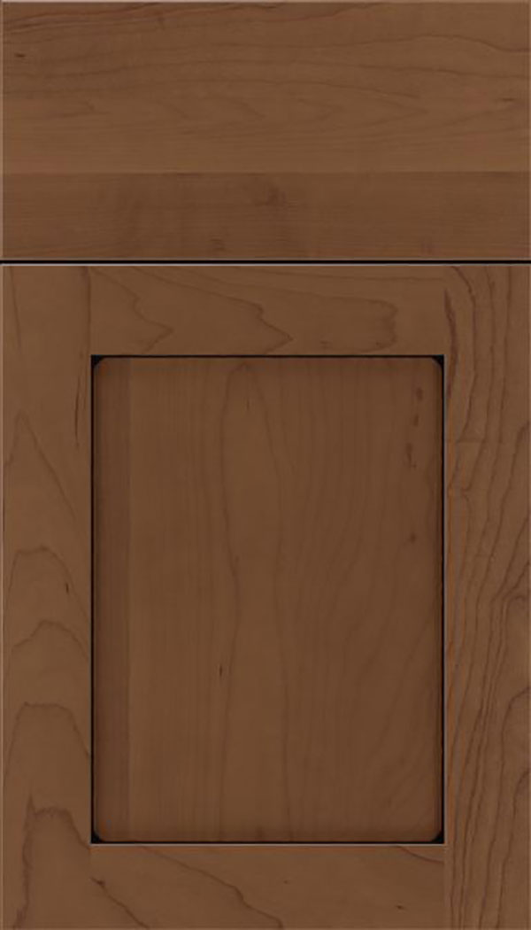 Salem Maple shaker cabinet door in Toffee with Black glaze