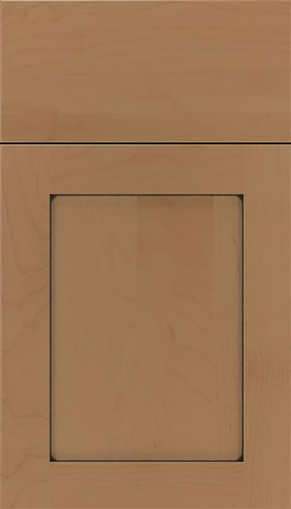 Salem Maple shaker cabinet door in Tuscan with Black glaze