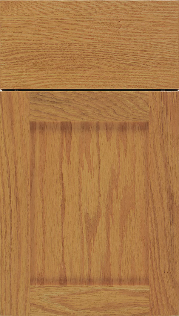 Salem Oak shaker cabinet door in Spice