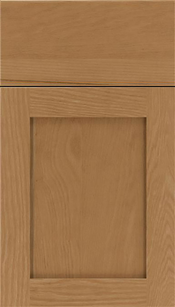 Salem Oak shaker cabinet door in Tuscan
