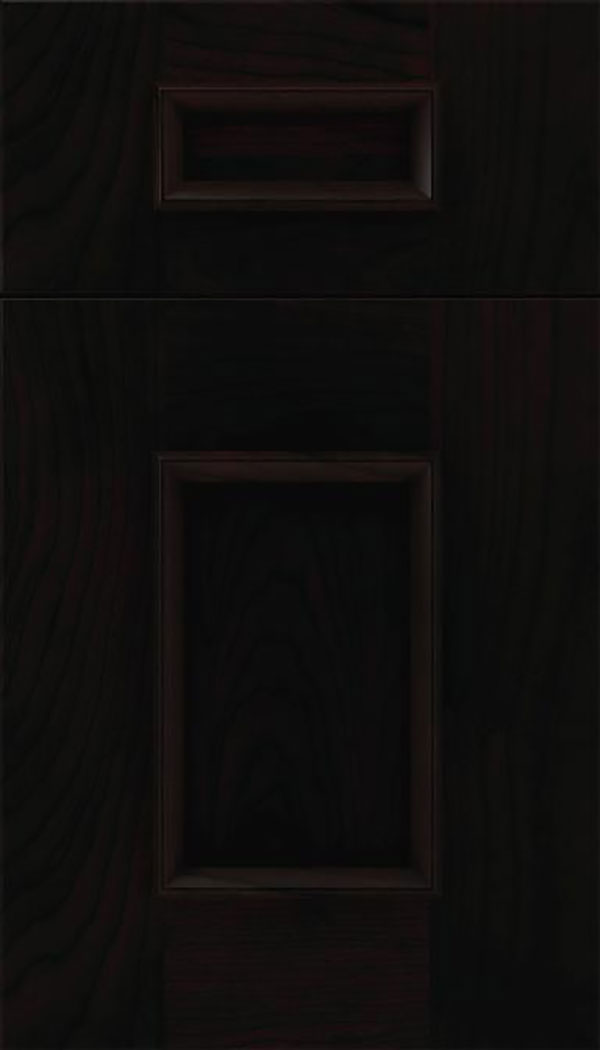 Sapri 5pc Cherry recessed panel cabinet door in Espresso