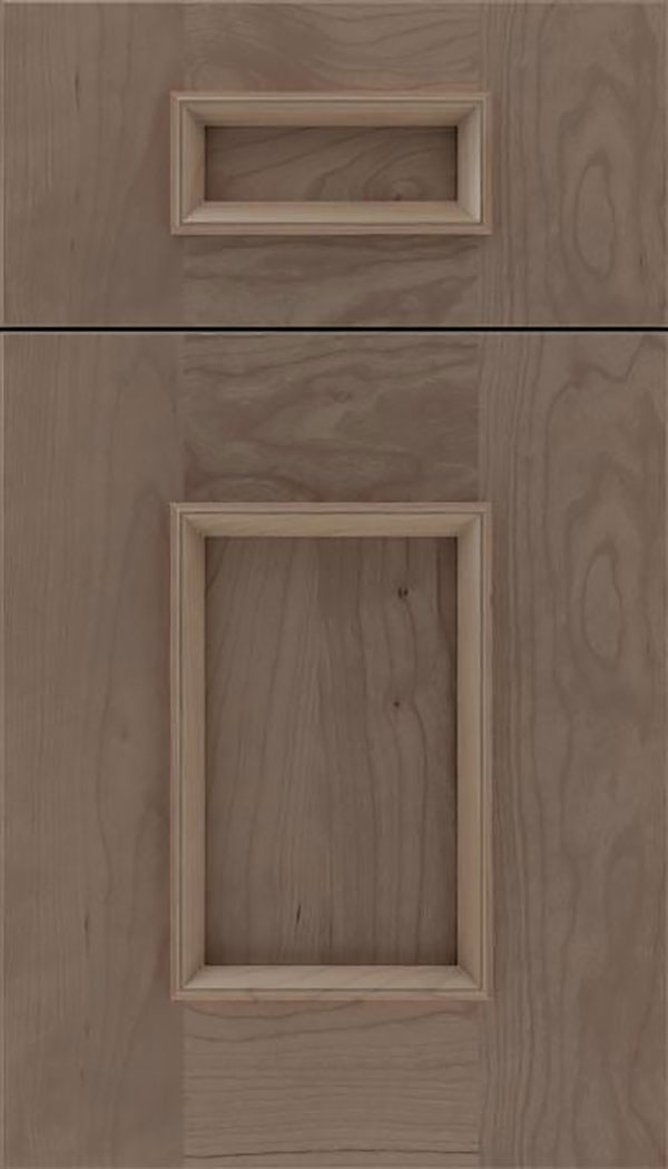 Sapri 5pc Cherry recessed panel cabinet door in Winter