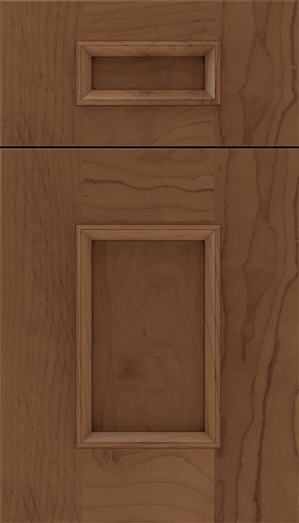 Sapri 5pc Maple recessed panel cabinet door in Toffee with Mocha glaze