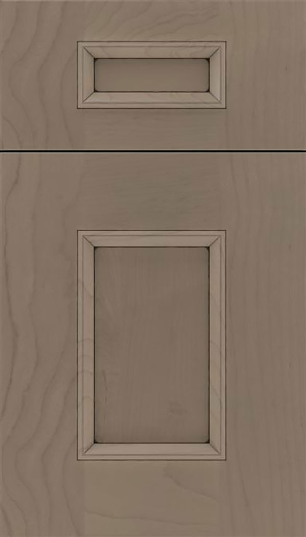 Sapri 5pc Maple recessed panel cabinet door in Winter with Black glaze