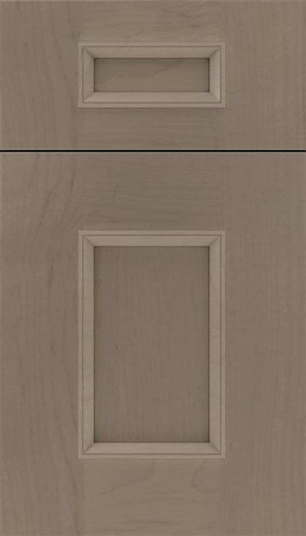 Sapri 5pc Maple recessed panel cabinet door in Winter with Pewter glaze