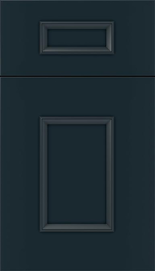 Sapri 5pc Maple recessed panel cabinet door in Gunmetal Blue