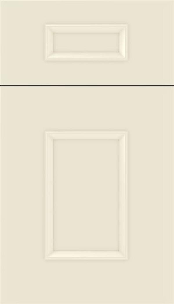 Sapri 5pc Maple recessed panel cabinet door in Seashell