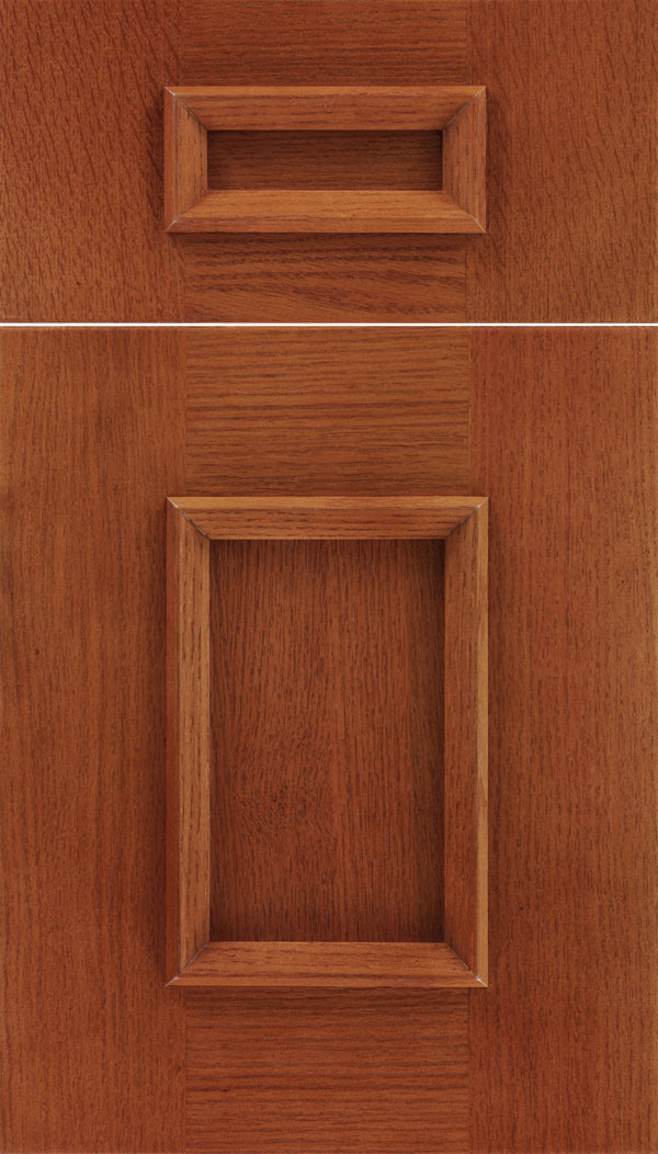Sapri 5pc Oak recessed panel cabinet door in Nutmeg