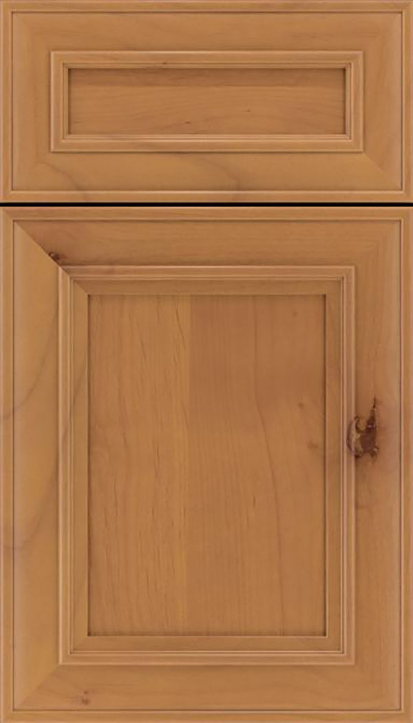 Sheffield 5pc Alder recessed panel cabinet door in Ginger