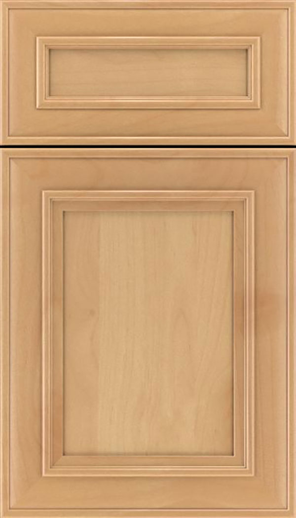 Sheffield 5pc Alder recessed panel cabinet door in Natural