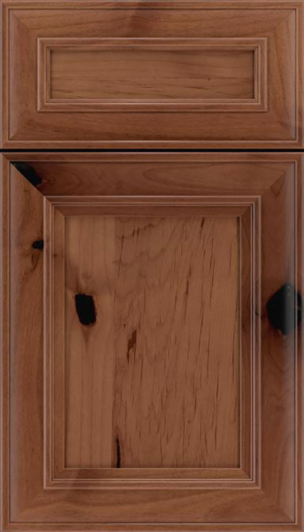 Sheffield 5pc Alder recessed panel cabinet door in Nutmeg