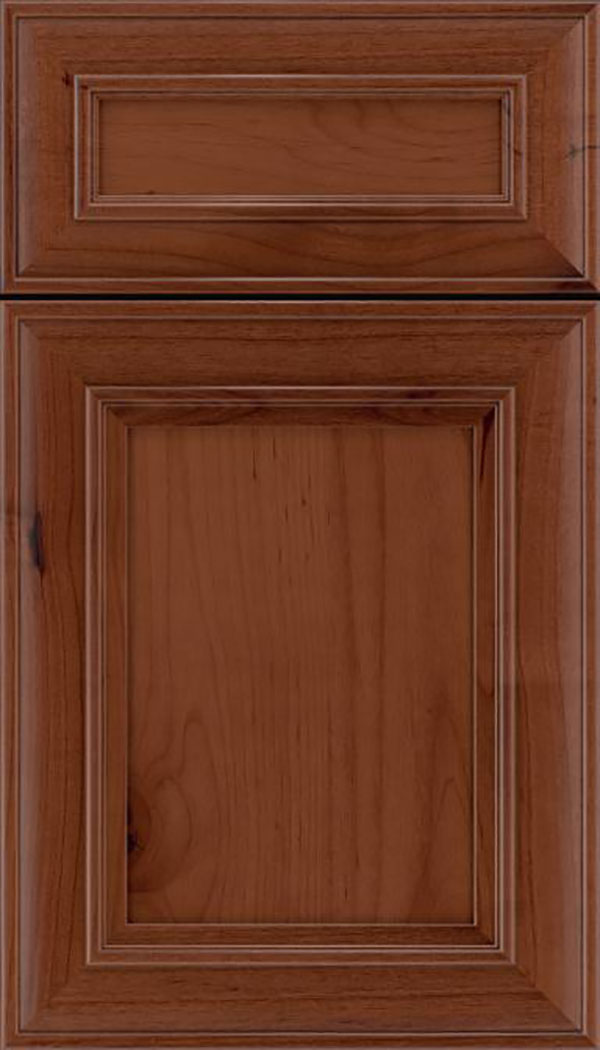 Sheffield 5pc Alder recessed panel cabinet door in Russet